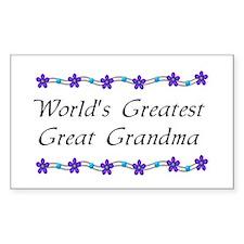 Greatest Great Grandma Rectangle Decal
