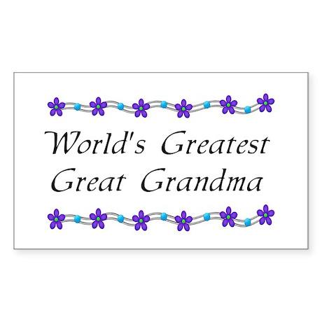 Greatest Great Grandma Rectangle Sticker