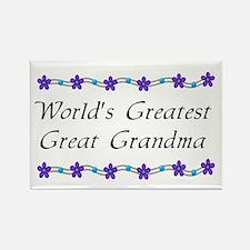 Greatest Great Grandma Rectangle Magnet