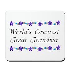 Greatest Great Grandma Mousepad