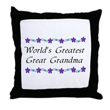 Greatest Great Grandma Throw Pillow
