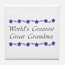 Greatest Great Grandma Tile Coaster