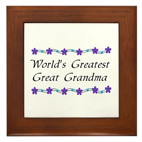 Greatest Great Grandma Framed Tile