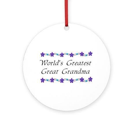 Greatest Great Grandma Ornament (Round)