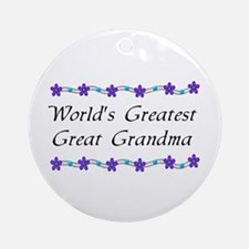 Greatest Great Grandma Ornament (Round)