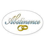 Abstinence Oval Sticker (50 pk)