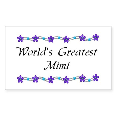 Greatest MiMi Rectangle Sticker