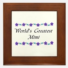Greatest MiMi Framed Tile