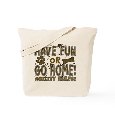 Have Fun Dog Agility Tote Bag
