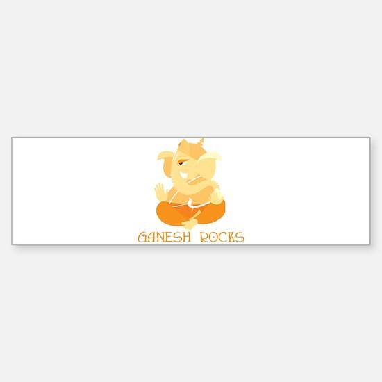 Ganesh Rocks! Bumper Bumper Bumper Sticker