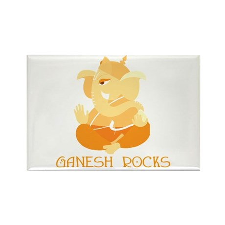Ganesh Rocks! Rectangle Magnet (100 pack)