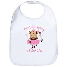 Tutu Cute Monkey Bib