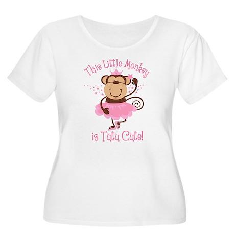 Tutu Cute Monkey Women's Plus Size Scoop Neck T-Sh