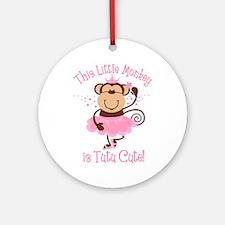 Tutu Cute Monkey Ornament (Round)