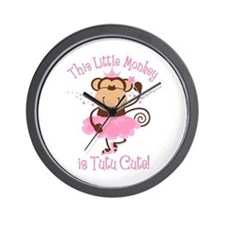 Tutu Cute Monkey Wall Clock