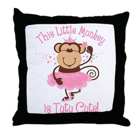 Tutu Cute Monkey Throw Pillow