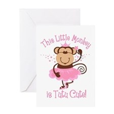 Tutu Cute Monkey Greeting Card