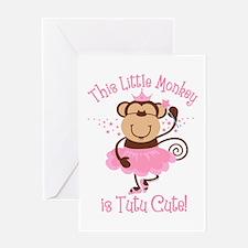 Tutu Cute Monkey Greeting Card