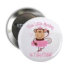 """Tutu Cute Monkey 2.25"""" Button"""