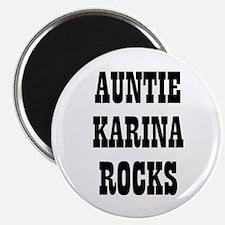 "AUNTIE KARINA ROCKS 2.25"" Magnet (10 pack)"