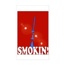 Smokin! Rockets in Red! Rectangle Decal