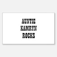 AUNTIE KAMRYN ROCKS Rectangle Decal