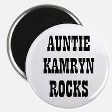 """AUNTIE KAMRYN ROCKS 2.25"""" Magnet (10 pack)"""