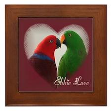 Ekkie Love Framed Tile