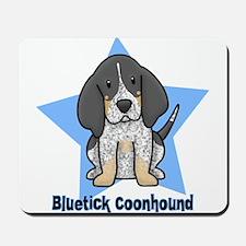 Star Kawaii Bluetick Coonhound Mousepad