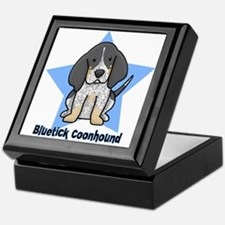 Star Kawaii Bluetick Coonhound Keepsake Box