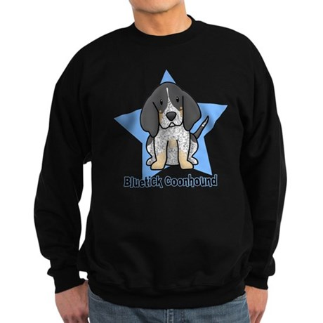 Star Kawaii Bluetick Coonhound Sweatshirt (dark)