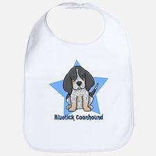 Star Kawaii Bluetick Coonhound Bib