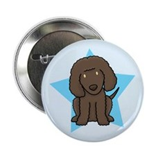 "Star Kawaii Irish Water Spaniel 2.25"" Button"