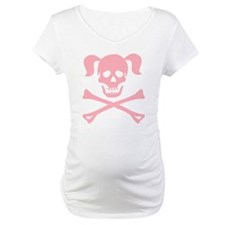 Pink Skull and Cross Bones With Pigtails Shirt