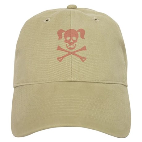 Pink Skull and Cross Bones With Pigtails Cap