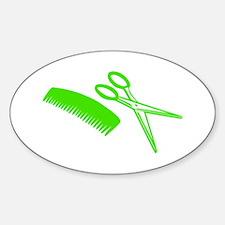 Comb & Scissors - Hairdresser Oval Decal