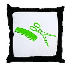 Comb & Scissors - Hairdresser Throw Pillow