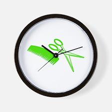 Comb & Scissors - Hairdresser Wall Clock