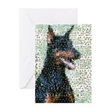 Unique Doberman pincher Greeting Card