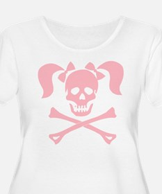 Skull & Cross Bones Pigtails & Bow T-Shirt