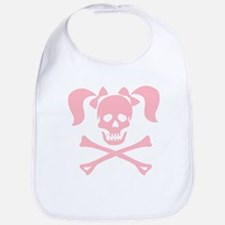 Skull & Cross Bones Pigtails & Bow Bib