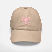 Skull & Cross Bones Pigtails & Bow Baseball Baseball Cap