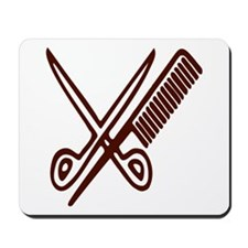 Comb & Scissors - Hairdresser Mousepad