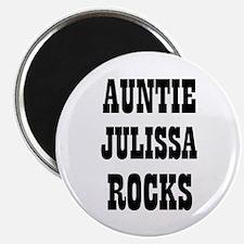"""AUNTIE JULISSA ROCKS 2.25"""" Magnet (10 pack)"""