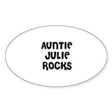 AUNTIE JULIE ROCKS Oval Decal