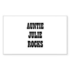 AUNTIE JULIE ROCKS Rectangle Decal