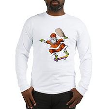 Skateboarding Santa Long Sleeve T-Shirt