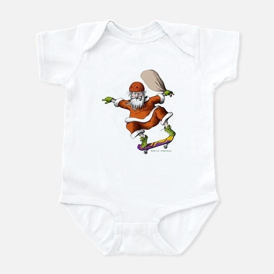 Skateboarding Santa Infant Bodysuit