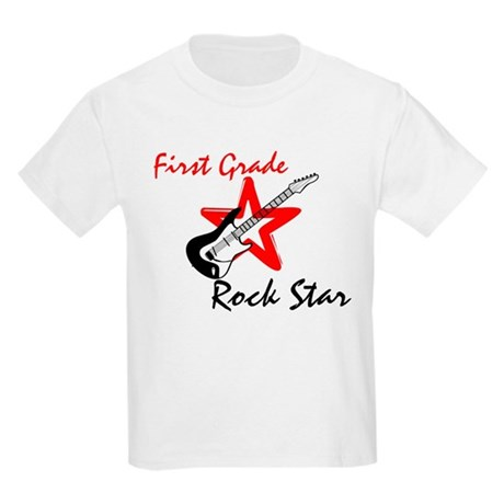 First Grade Rock Star Kids Light T-Shirt