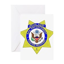 Bail Enforcement Agent Greeting Card